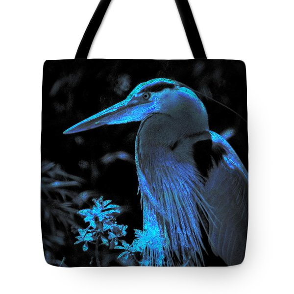 Tote Bag featuring the photograph Blue Heron by Lori Seaman
