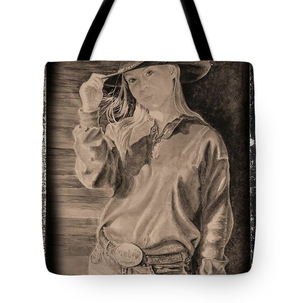 Blue Jean Cowgirl Tote Bag