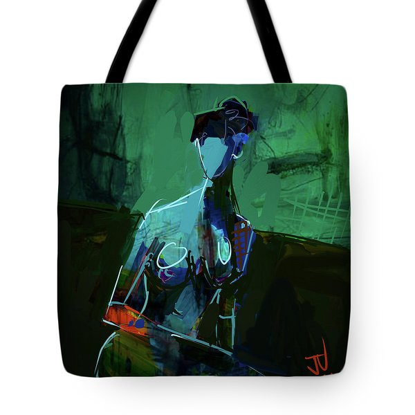 Tote Bag featuring the digital art Blue by Jim Vance