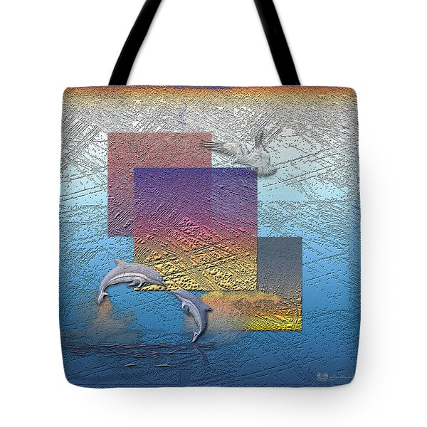 Blue Lagoon Sunrise  Tote Bag by Serge Averbukh