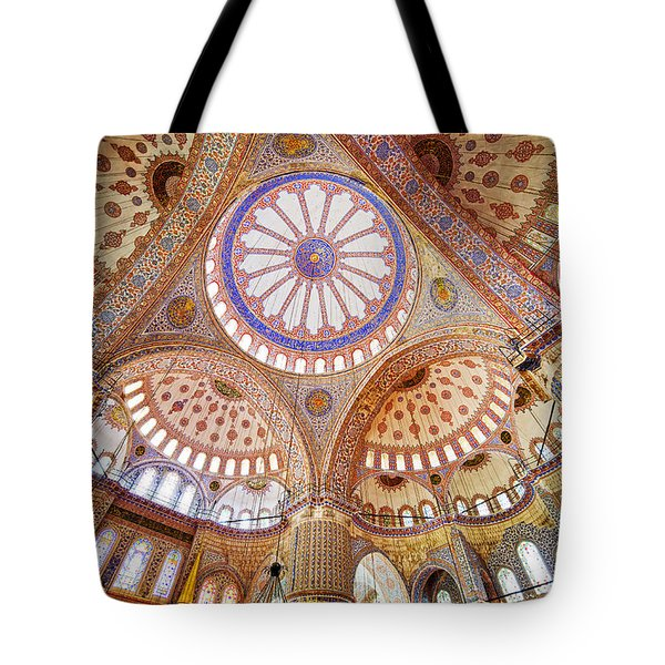 Blue Mosque Interior Tote Bag