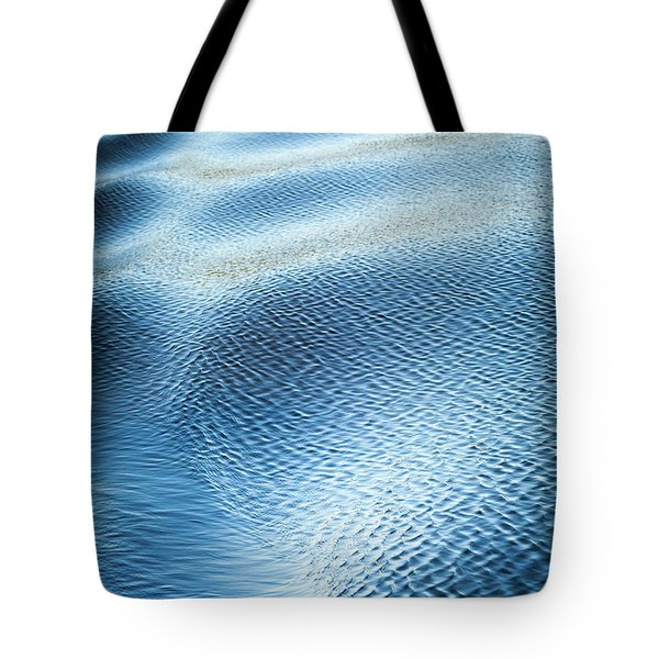 Tote Bag featuring the photograph Blue On Blue by Karen Wiles