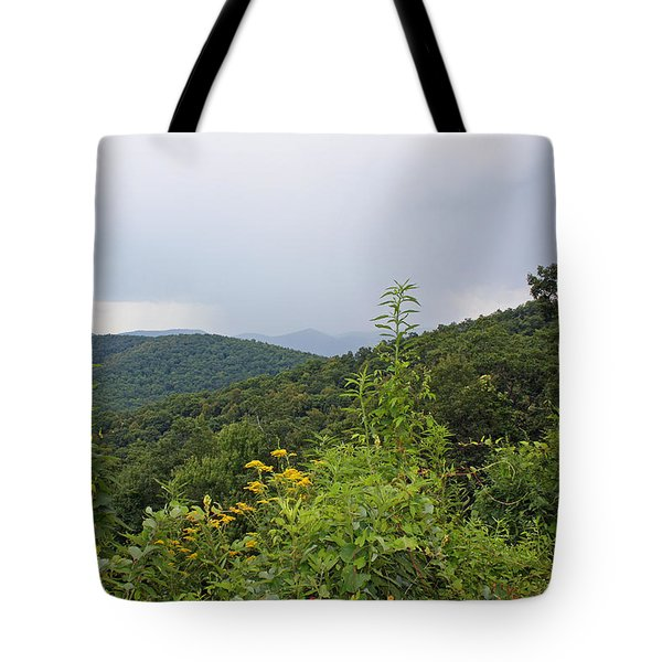 Blue Ridge Mountains Tote Bag by Ellen Tully