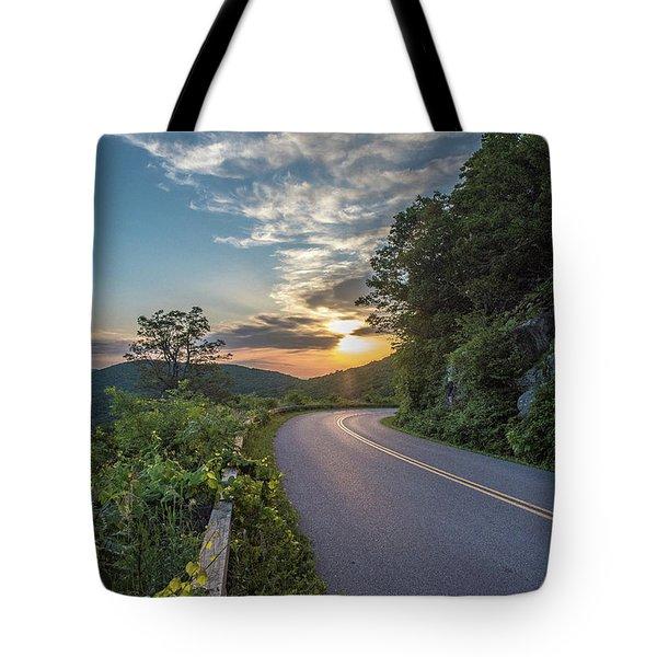 Blue Ridge Parkway Morning Sun Tote Bag