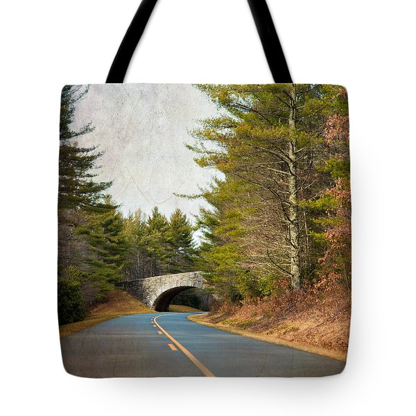 Tote Bag featuring the photograph Blue Ridge Parkway by Ray Devlin
