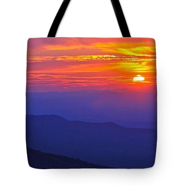 Blue Ridge Parkway Sunset, Va Tote Bag by The American Shutterbug Society