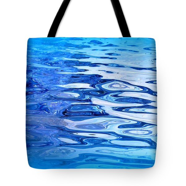Blue Tote Bag by Sylvie Leandre
