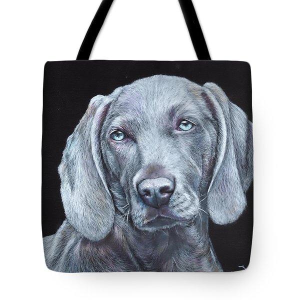 Blue Weimaraner Tote Bag