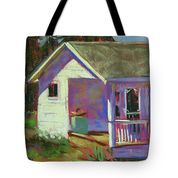 Blue Willow Farmers House Tote Bag by Mary McInnis