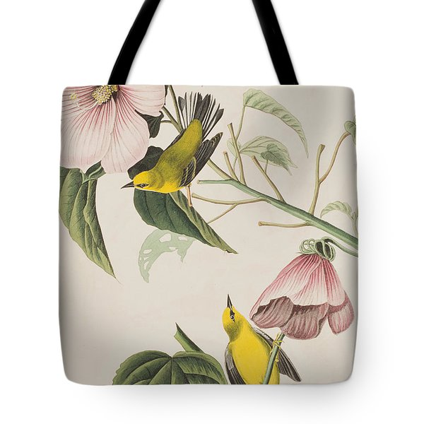 Blue-winged Yellow Warbler  Tote Bag