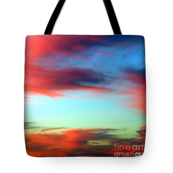 Blushed Sky Tote Bag by Linda Hollis