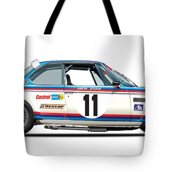 Bmw 3.0 Csl Chris Amon, Hans Stuck Tote Bag