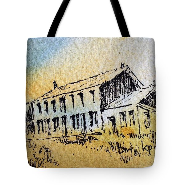 Boardinghouse Cable Ghost Town Montana Tote Bag by Kevin Heaney