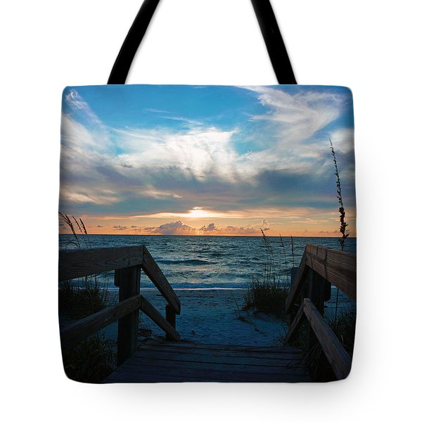 Boardwalk At Delnor-wiggins Pass State Park Tote Bag by Robb Stan