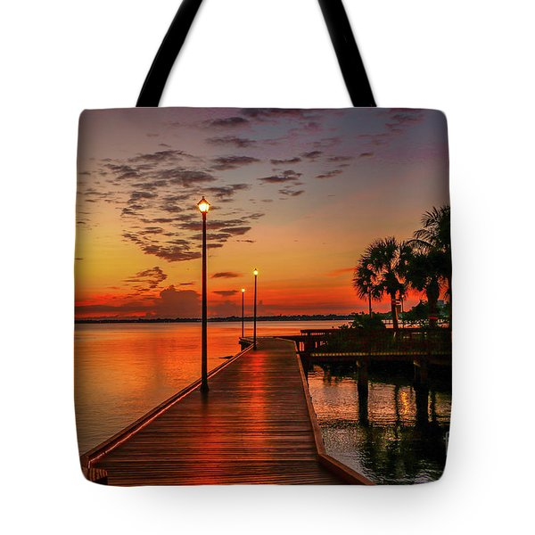 Boardwalk Sunrise Tote Bag