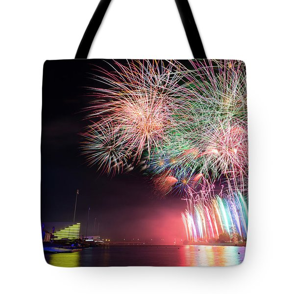 Boathouse Fireworks Tote Bag