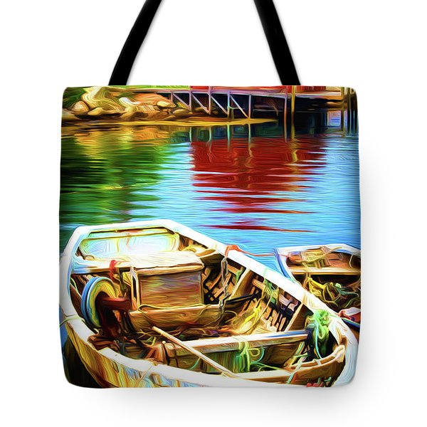 Boats Tote Bag by Andre Faubert