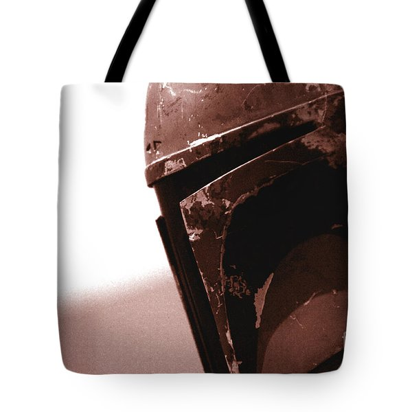 Tote Bag featuring the photograph Boba Fett Helmet 32 by Micah May