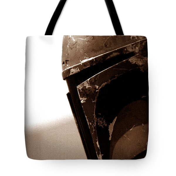 Tote Bag featuring the photograph Boba Fett Helmet 33 by Micah May
