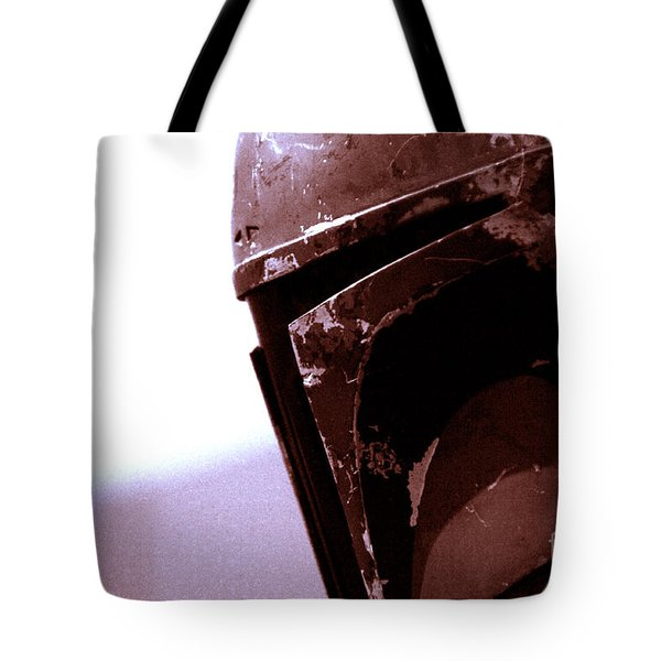Tote Bag featuring the photograph Boba Fett Helmet 34 by Micah May