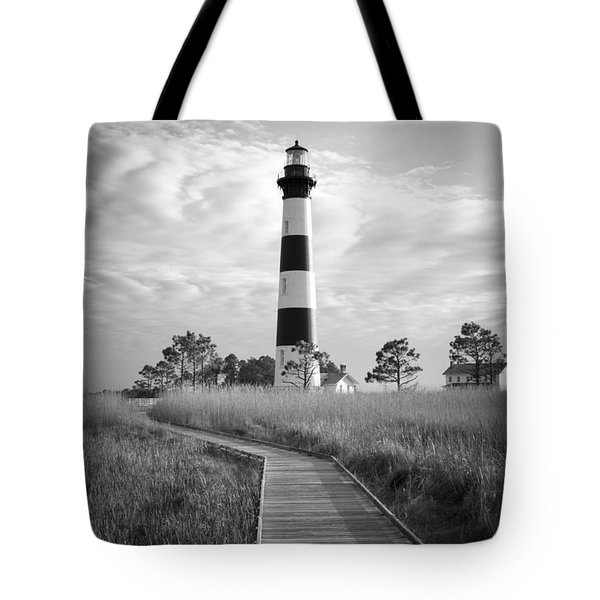 Bodie Island Lighthouse Tote Bag by Marion Johnson
