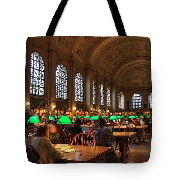 Tote Bag featuring the photograph Boston Public Library by Joann Vitali