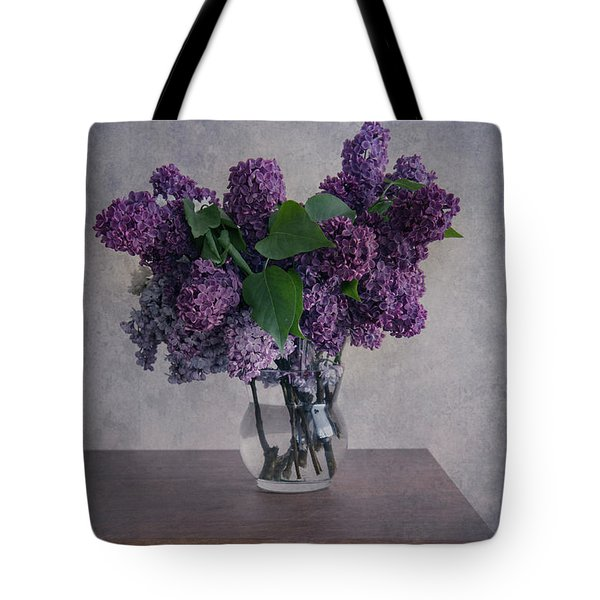 Tote Bag featuring the photograph Bouquet Of Fresh Lilacs by Jaroslaw Blaminsky