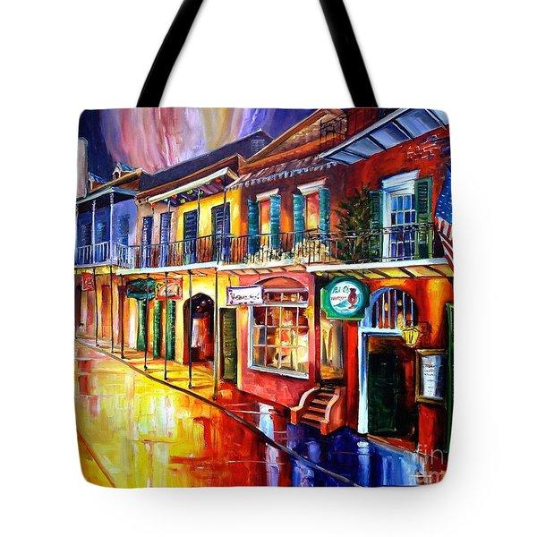 Bourbon Street Red Tote Bag by Diane Millsap