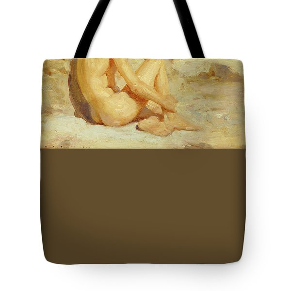 Boy On A Beach Tote Bag by Henry Scott Tuke