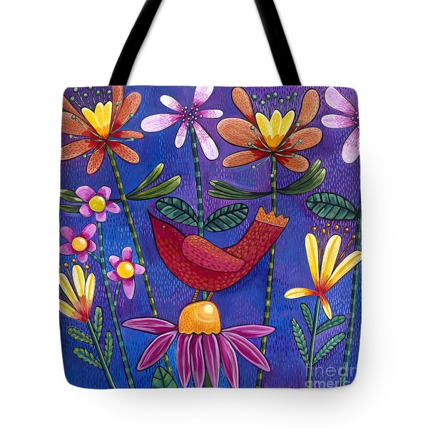 Tote Bag featuring the painting Brand New Day by Carla Bank