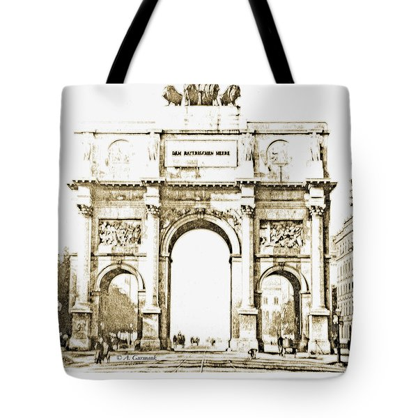 Brandenburg Gate, Berlin Germany, 1903, Vintage Image Tote Bag