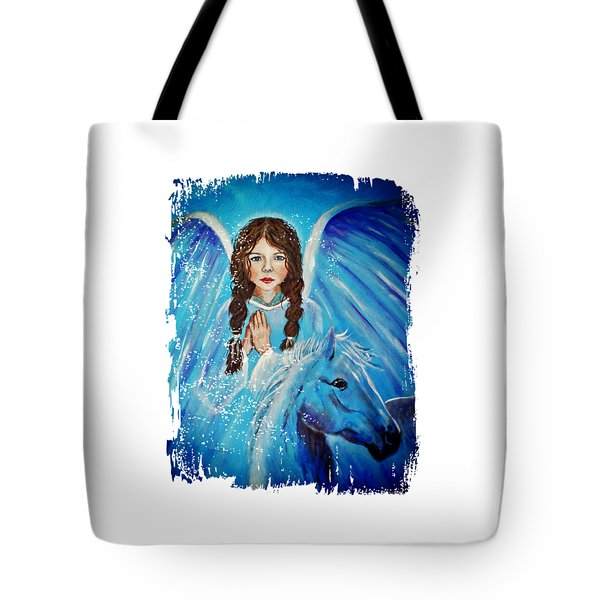 Brianna Little Angel Of Strength And Courage Tote Bag by The Art With A Heart By Charlotte Phillips