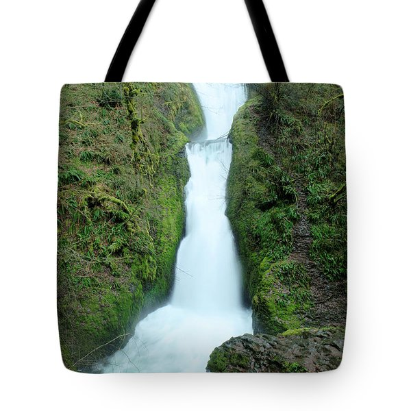 Tote Bag featuring the photograph Bridal Veil Falls by Jeff Swan