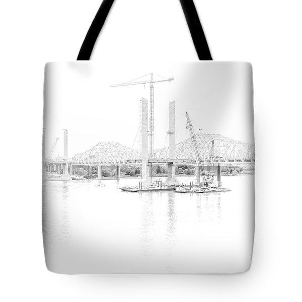 Bridge Construction Tote Bag
