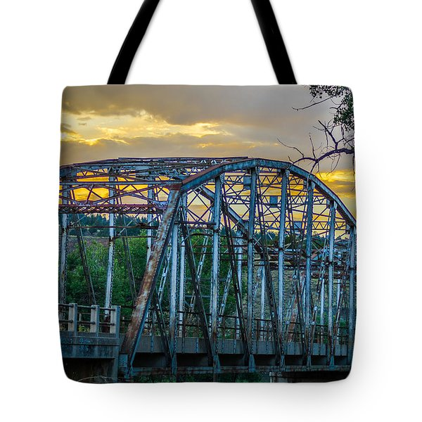 Tote Bag featuring the photograph Bridge by Jerry Cahill