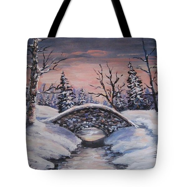 Bridge Of Solitude Tote Bag by Megan Walsh