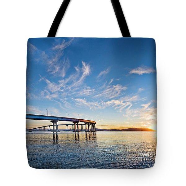 Bridge Sunrise Tote Bag