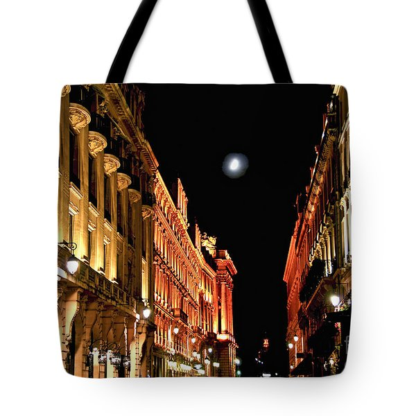 Bright Moon In Paris Tote Bag by Elena Elisseeva