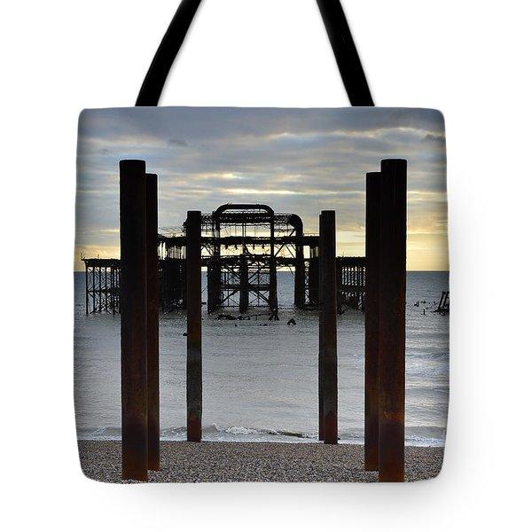 Brighton West Pier Tote Bag