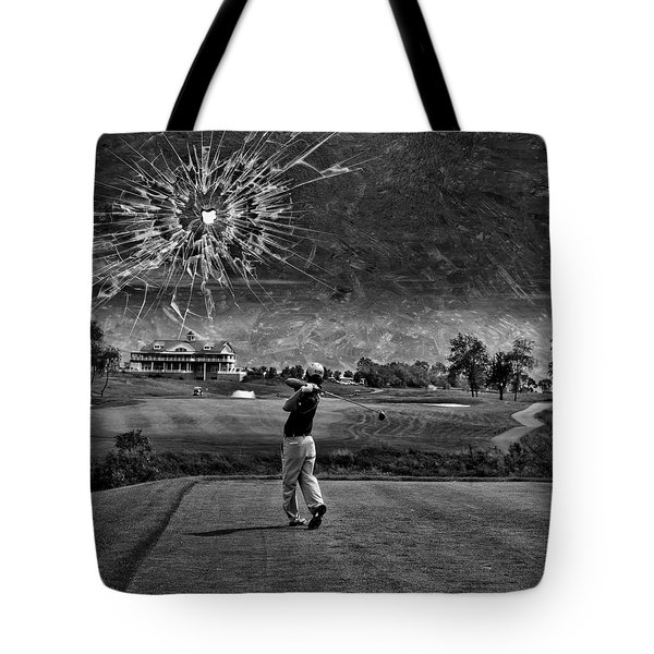 Broken Glass Sky Tote Bag