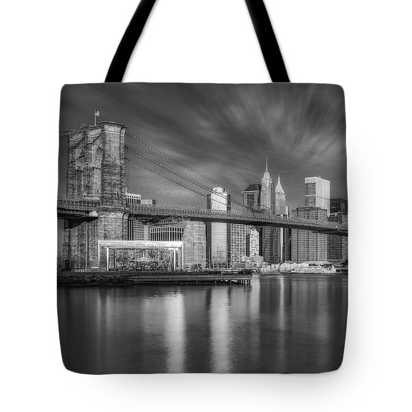 Brooklyn Bridge From Dumbo Tote Bag by Susan Candelario
