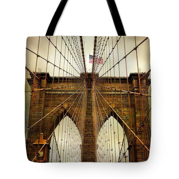 Brooklyn Bridge Twilight Tote Bag by Jessica Jenney