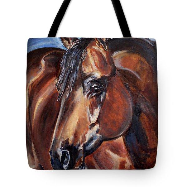 Brown Horse  Tote Bag