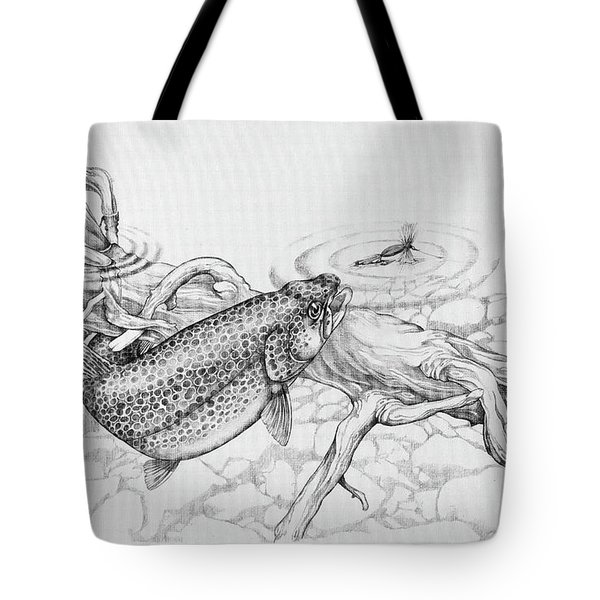 Brown Trout Pencil Study Tote Bag