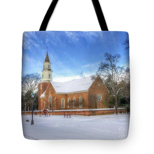 Bruton Parish In Winter II Tote Bag