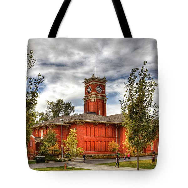 Bryan Hall On The Wsu Campus Tote Bag
