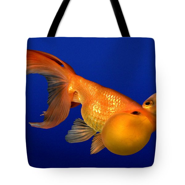 Bubble Eye Goldfish Tote Bag by Wernher Krutein