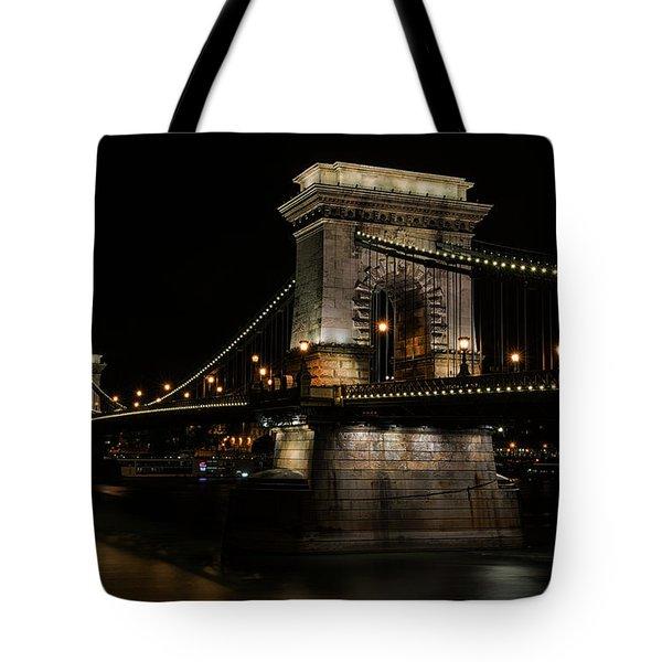 Budapest At Night. Tote Bag by Jaroslaw Blaminsky
