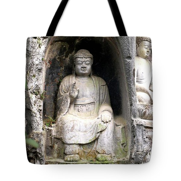 Tote Bag featuring the photograph Buddha Carving by Marti Green