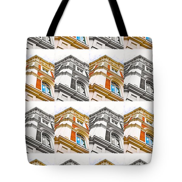 Buildimng Collage Tote Bag